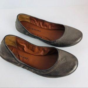 Lucky Brand Emmie ballet flats bronze shoes 8